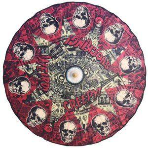 Accessories - Weird! Creepy! Shocking! Red Skulls Paper Parasol